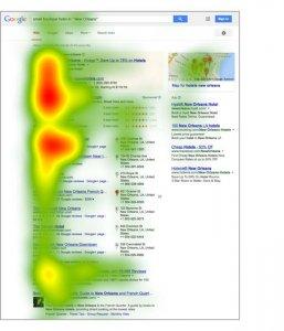 نقشه حرارتی SERP گوگل
